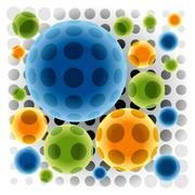 color spheres - stock illustration