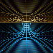 "Wireframe symbol (""wormhole"") Stock Illustration"