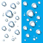 water drops - stock illustration