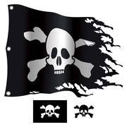 jolly roger - stock illustration
