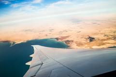 Airplane journey Stock Photos