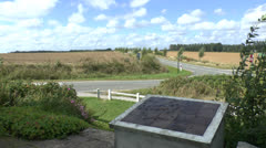 The site of the Battle of Azincourt (Agincourt) 1415, northern France Stock Footage