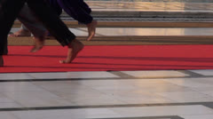 Barefooted sikh  pilgrims in Amritsar Golden temple, Stock Footage