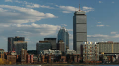 Boston Back Bay Cityscape Stock Footage