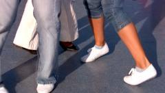 Legs of jazz dancers Stock Footage
