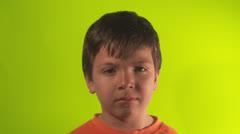 Little boy neutral Stock Footage