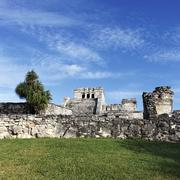 famous place of tulum - stock photo