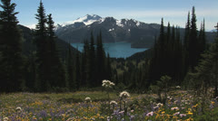 Garibaldi Lake view Stock Footage