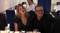 TRACEY EMIN & HESTON BLUMENTHAL Stock Footage