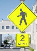 Slow 2  MPH Road Sign Stock Photos