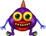 Stock Illustration of Purple monster cartoon