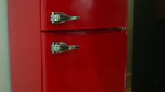 Empty fridge refridgerator Stock Footage