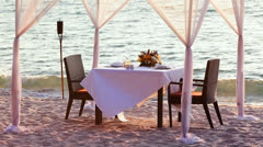 A good place for romantic dinner Stock Footage