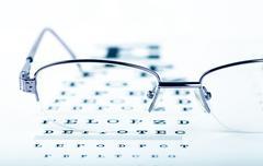 eye chart - stock photo