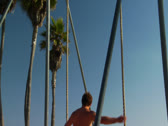 Stock Video Footage of Muscle Beach Venice Beach California Hollywood Los Angeles Landmark
