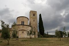 Antimo's abbey in tuscany, italy Stock Photos