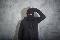 confused burglar - stock photo