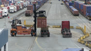 Stock Video Footage of shipping container being unloaded