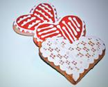 Stock Photo of three gingerbread hearts