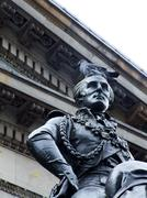 Statue of the duke of wellington, glasgow gallery of modern art Stock Photos