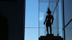 Statue in Art Gallery NSW (Dolly 2) Stock Footage