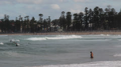 Surf at Queenscliff, Sydney Stock Footage
