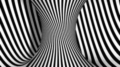 3D Optical Illusion Spiral - stock footage
