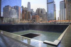 9/11 Memorial Pools - stock photo