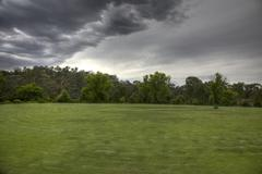 Field in a Storm - stock photo