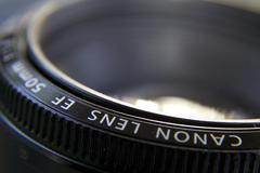Lens in Focus - stock photo