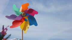 Toy Windmill - stock footage
