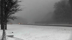 Snowstorm-Mass Turnpike 6 Highway Traffic.mp4 Stock Footage