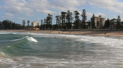 Queenscliff beach in Sydney (1) Stock Footage