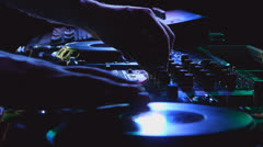 Stock Video Footage of Dj mixes the track