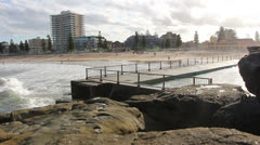 Queenscliff beach in Sydney (4) Stock Footage