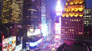 Time lapse of Times Square at night Stock Footage