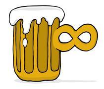Endless infinite beer Stock Illustration