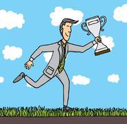 Liiketoiminnan palkinto / myönnettiin liikemies Piirros