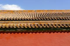 Traditional chinese roof detail Stock Photos