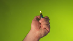 Concert Lighter - Hand wave side to side - stock footage