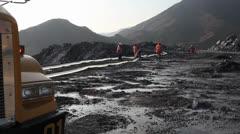 Highland mining exploration - stock footage