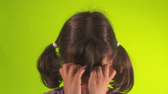 Girl crying Stock Footage