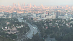 Los Angeles Sunset Into Night Stock Footage