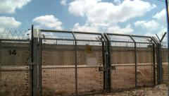Border Fence and Wall 1 Stock Footage