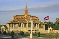 Moonlight pavailion, royal palace, phnom penh, cambodia Stock Photos