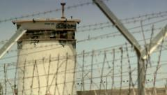 Border Fence and Pin-box  3 Stock Footage