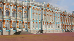 Catherine Palace in Pushkin, St. Petersburg Russia Stock Footage