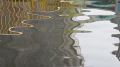 The flow of golden ripples Stock Footage