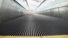 Moving sidewalk in airport Stock Footage