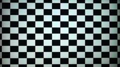 The chessboard to calibrate the TV and monitor Stock Footage